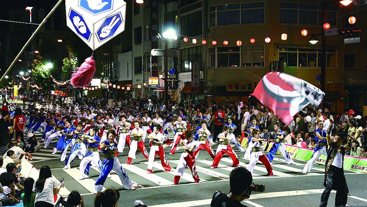 마쓰야마 축제(야구권 춤/야구 삼바)